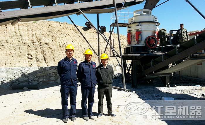 制砂机厂家生产出来的圆锥破碎机