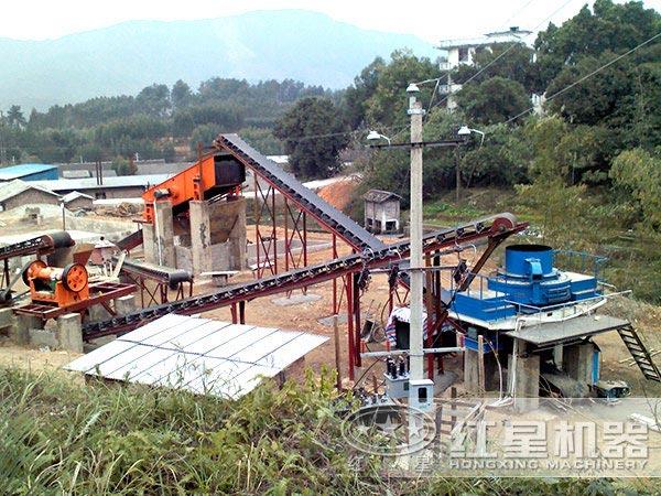 制砂生产线上的河卵石制砂机
