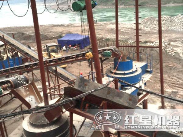 制砂生产线上的制砂机