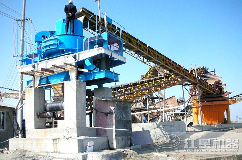 制砂生产线上的制砂机设备